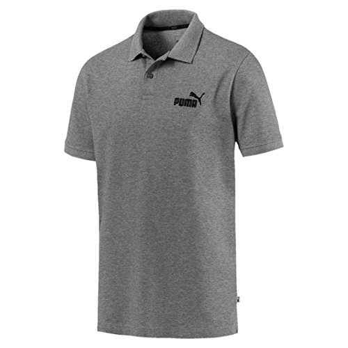 Puma Herren Ess Pique Polo Shirt - Medium Gray Heather, XL
