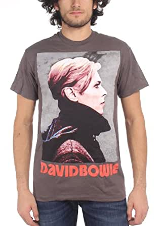 David Bowie - - Low Profile Herren T-Shirt in der Holzkohle, Small, Charcoal