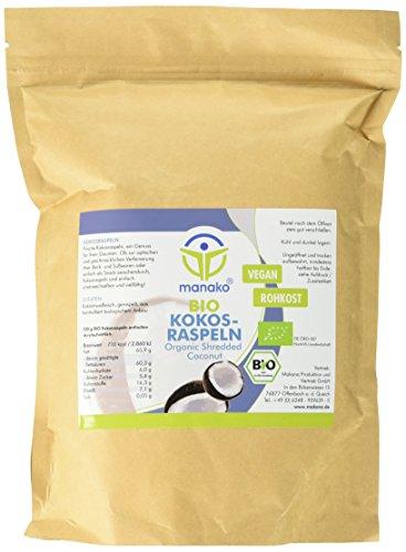 manako BIO - Kokosraspeln, 500g Beutel (1 x 0,5 kg)