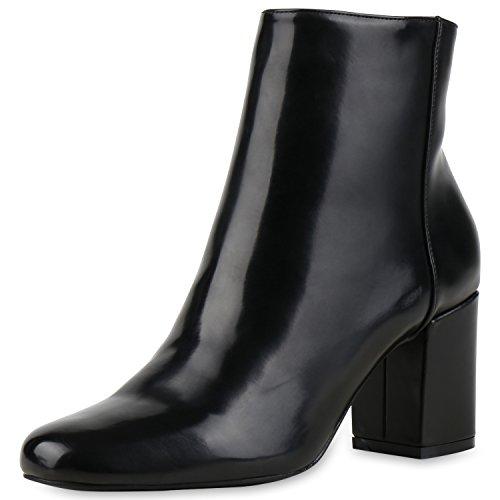 Japado , bottines classiques femme Schwarz