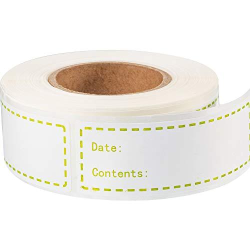 300 Stücke Abnehmbare Gefrierschrank Etiketten 1 x 3 Zoll Lebensmittel Lagerung Aufkleber Kühlschrank Gefrierschrank Papier Etiketten (Grün)