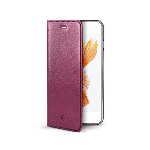 Celly AirPelle Custodia ad Agenda con Stand per iPhone 7 Plus, Blu Rosa