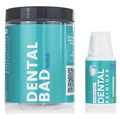 NEU: Dentalbad mit Reinigungskonzentrat (100ml) für die optimale Reinigung von Zahnprothesen, Gebisse, Zahnersatz und Zahnspangen (Dental Basis)