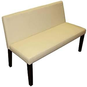 Minster - Bench Style Sofa Seat - Cream / Mahogany