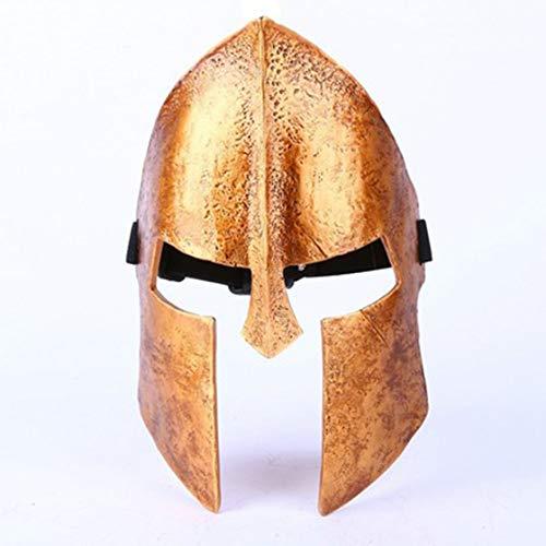 Cradifisho Halloween Spartan Warrior Maske aus Harz, Maske der Prominente, Halloweenmaske, Karneval, Weihnachten, Ostern, Masken-Kollektion