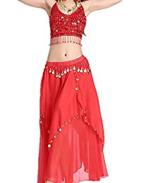Dancewear Danza del vientre Traje Five Flowers Bandage Top +?wo Layers Chiffon Skirt