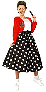Rubies 16482STD - Disfraz de rockera para mujer (adulto) (talla 10-12)