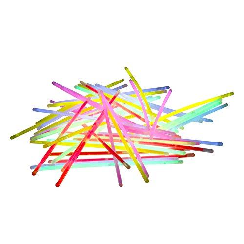 Kostüme Mens Armee (100 er Rolle bunt gemischt mit Verbinder Top Premium Qualität Fabrikfrische Qualitiätsware leuchtstark und langlebig Leuchtarmband Arm Knicklicht Leuchtstab)