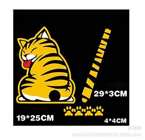 Autoaufkleber Aufkleber Fensteraufkleber Glas Heckwischer Cat Glas Heck wird nach der Katze Katze Heckscheibe Wischer Katze weiß bewegen - Einfach Die Bewegen Sie Ps4