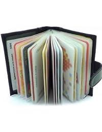SLB Works Brand New Fashion Sale Men's Luxury Soft Black Leather Credit Card Holder Wallet HU