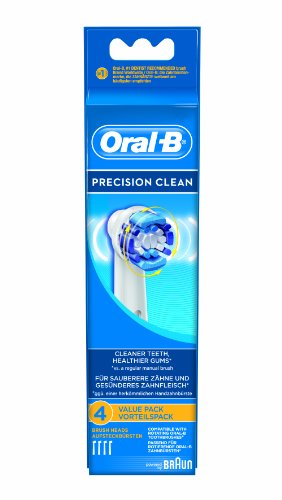 4 pack of compatible Braun oral B EB17-4 precision clean replacement toothbrush heads