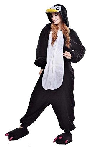 Cosplay Pyjamas Schwarz Pinguin Erwachsene Unisex Animal Cosplay Overall Pajamas Anime Schlafanzug Spielanzug Kostüme ()
