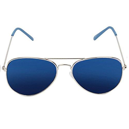 Decode Combo Of Analogue Blue Dial Watch & Aviator Men's Sunglasses-(WS 574Blue-003SLV Blue)