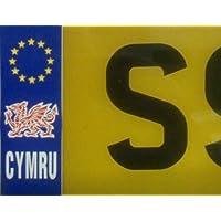 Numero Cymru Lingua gallese Galles drago Car Targa Sticker 1.5