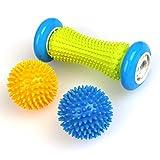 TIMESETL Fußmassageroller für Plantarfasziitis - Muskel Hand Fuß Massage Roller Ball mit Noppen, Schmerzlinderung für Hacken Fußgewölbe, Stressreduzierung und Entspannung durch Triggerpunkt-Therapie