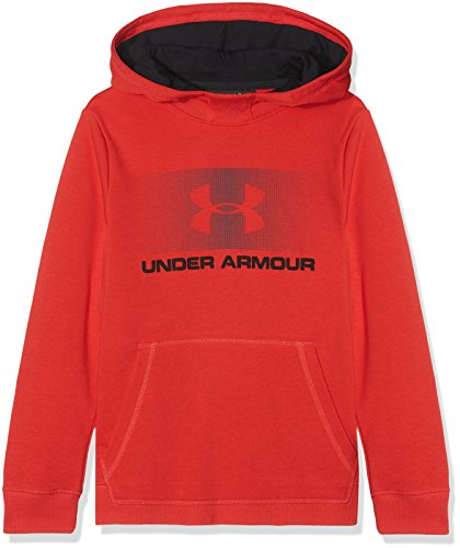 Under Armour Jungen CTN French Terry Hoody Oberteil, Red, S Red French Terry