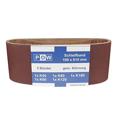 30 Stück Gewebe-Schleifbänder 100 x 610 mm K40-180 Schleifpapier Schleifband Bandschleifer -