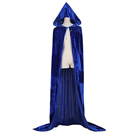 Cosplayitem Unisex Medieval Cloak Hooded Long Cape Halloween Christmas Costume Cosplay