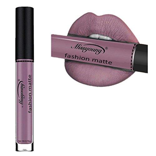 Huihong Wasserdichte flussige Make-up Lip Pencil Matte Lippenstift Lip Gloss Super Long Lasting (Göttin Farbe-H)