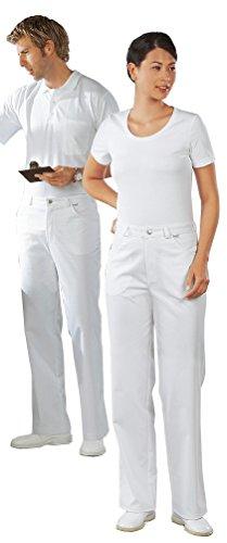 Herren Hose Praxis (clinicfashion 10627003 Hose weiß Unisex für Damen und Herren, Normalgröße, Mischgewebe, Größe L)