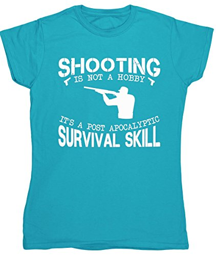 ing ist Nicht ein Hobby It 'S A Post Apokalyptischen Survival Skill Damen Fitted Short Sleeve T-Shirt Gr. XX-Large, Saphirblau (Halloween-text-post)