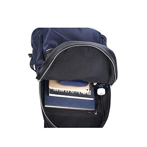 Männer Casual Fashion Rucksack Mit PU Kleinen Rucksack Blue