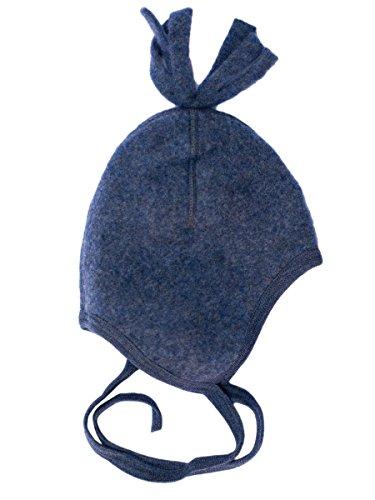 Engel Natur, Fleece Mütze, 100% Wolle (kbT) (86/92, Blau Melange)