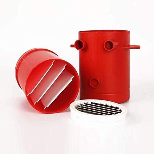 ArgoBear Kupferner Fischrogen-Kartoffel-Hersteller-Schneidemaschinen-Pommes-Frites-Hersteller für Seiten-Fischrogen-Schneider-Maschine u. Mikrowellenbehälter 2-in-1 kein frittieren