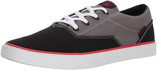 Volcom Herren Draw Lo Shoe Skateboardschuhe Grau (Black Grey Bkg) 44.5 EU (Surfen Technik)