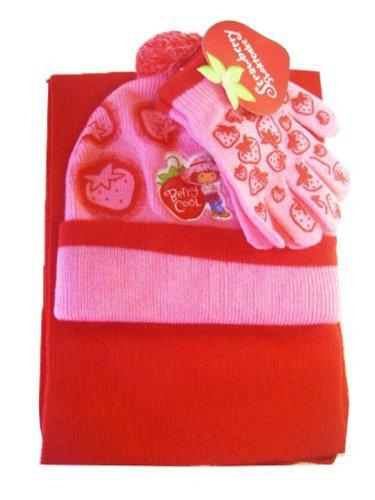 ze, Handschuhe und Schal (Strawberry Shortcake Kostüm Kinder)