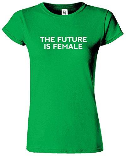 The Future Is Female Madchen Feminist Damen T-Shirt Irish Grün / Weiß Design