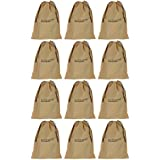 SHOESHINE INDIA Shoe Bags for Under Bed Storage, 12x16-inch(Biege) - Pack of 12