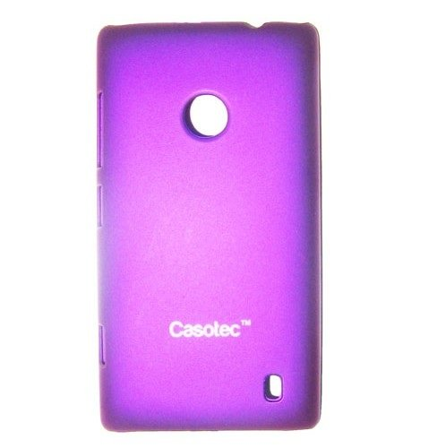 Casotec Ultra Slim Hard Back Case Cover w/ Screen Protector for Nokia Lumia 520 - Purple  available at amazon for Rs.99