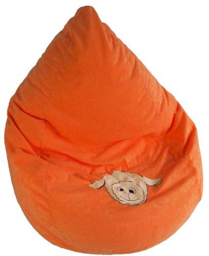 Heunec 772885 – Pouf enfants avec coutil et fermeture éclair, Wolly Sunshine, Env. 120 l