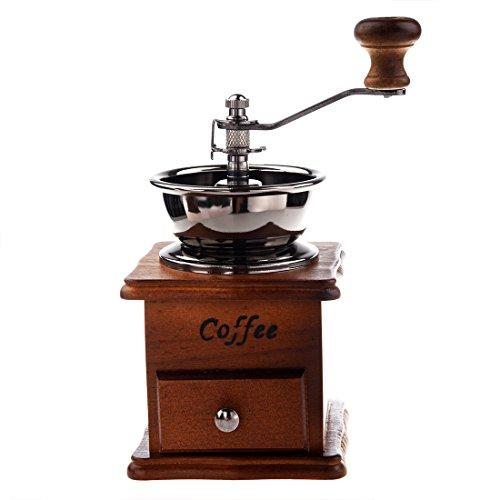 Grinder selbst - TOOGOO(R) Manuell Kaffeemuehle Holz/Metall Handmuehle Gewuerzmuehle (Holzfarbe)