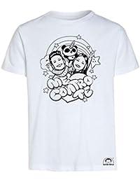 Idea Regalo per Bambini - Maglietta t-Shirt da colorare con Colori Inchiostro per Tessuti - Me Contro Te - Kira e Rai - Luì e Sofì Originale educativa
