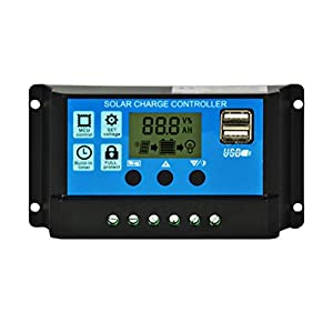 LIOOBO 12 V / 24 V Intelligente Solar Power Controller Laderegler mit LCD Display Solar Laderegler für Solar Panel Batterie Lampe LED Beleuchtung
