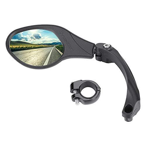 Dilwe Fahrrad Rückspiegel für Lenker, Edelstahl Fahrradspiegel, verstellbar, 360° Drehungsüberprüfung, Rückspiegel für 22,2 mm Rennrad Mountainbike, Links, rechts(Link)
