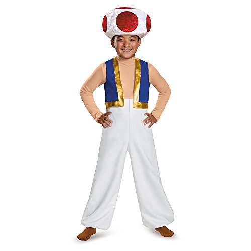 The cheerful, colorful character from the Mushroom Kingdom is here to help when your child has the Super Mario Bros Toad Kids Costume! This children's item has been tested & passes CPSIA safety standards. Hand wash cold. Do not bleach. Line dry. ...