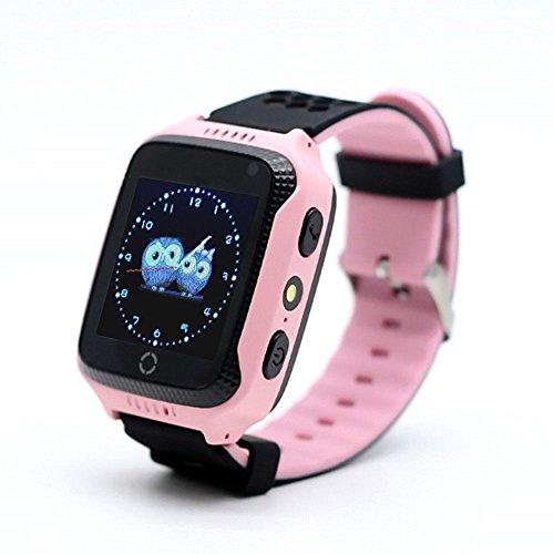 """VIDIMENSIO GPS Telefon Uhr """"KleineEule - pink"""", ohne Abhörfunktion, neueste Version, mit sicherem deutschen Server, SOS Notruf + Telefonfunktion, Anleitung + App + Support: auf Deutsch"""