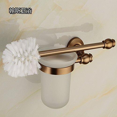 GY&H Brosses de WC et supports Espace aluminium européen antique brossé ensemble de brosse de toilette, porte-balai de toilettes mur monté