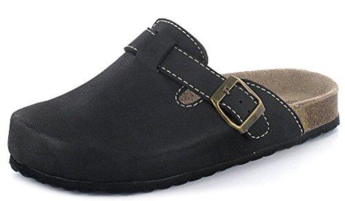 Softwaves 276-002 Donna Pantofole pantofole Zoccoli classico Nero (nero)
