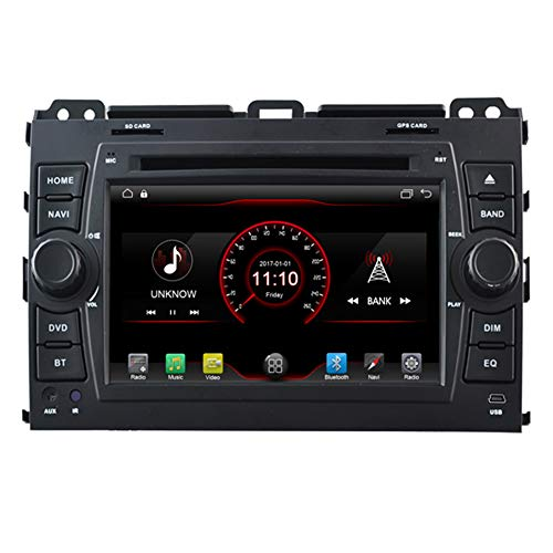 Autosion Navigation in Dash Android 6.0 Auto DVD-Player GPS Sat-Nav Kopfeinheit Stereo für Toyota Land Cruiser Prado 120 2002 2003 2004 2005 2006 2007 mit Radio SD USB WiFi DVR 1080P