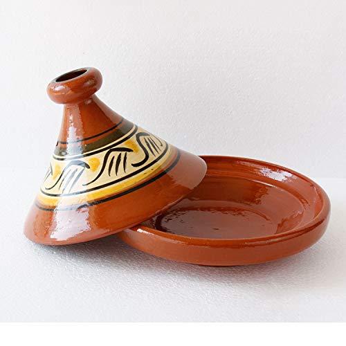 Casa Moro Marokkanische Tagine Tajine Beldi Ø 26 cm zum Kochen Berber Tontopf Handmade Tuareg für...