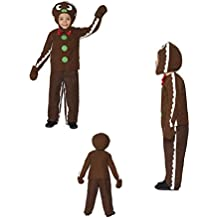 Fancy Dress Four Less Disfraz de hombre de pan de jengibre para niños, con camisa