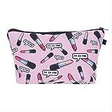 AMZIJ Cosmetic bagMakeup Bags Frauen Kosmetiktasche Mit Multicolor Muster 3d Druck Neceser Cosmetics...
