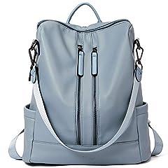 Idea Regalo - Donne Zaino Borsa Pelle Moda Viaggio Daypack Casuale Staccabile Borsa a Tracolla Blu