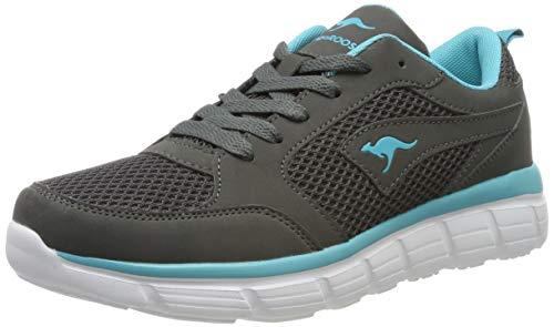 KangaROOS Damen KR-Rimble Sneaker, Grau (Steel Grey/Turquoise 2106), 41 EU