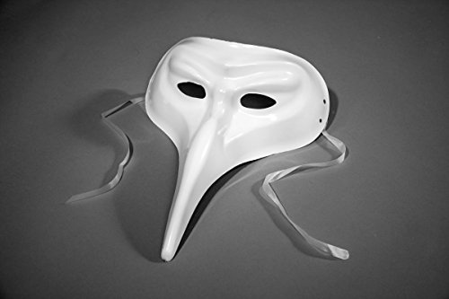Festartikel Müller Venezianische Maske Schnabelmaske Pantalone weiß Karneval -