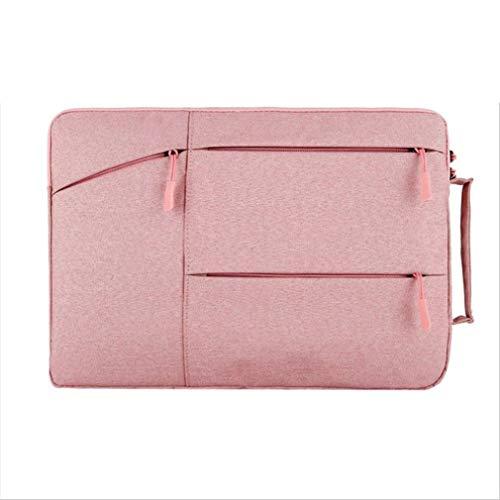 LCUHW Schützend Laptop-Hülle für 12-15.6 Zoll Auslaufsicher Notebook-Tasche mit Zubehörtasche Rosa,15.6inch -